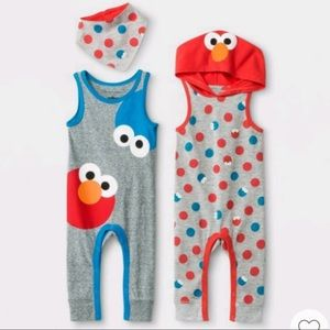 Sesame Street Elmo & Cookie Monster Sets Newborn
